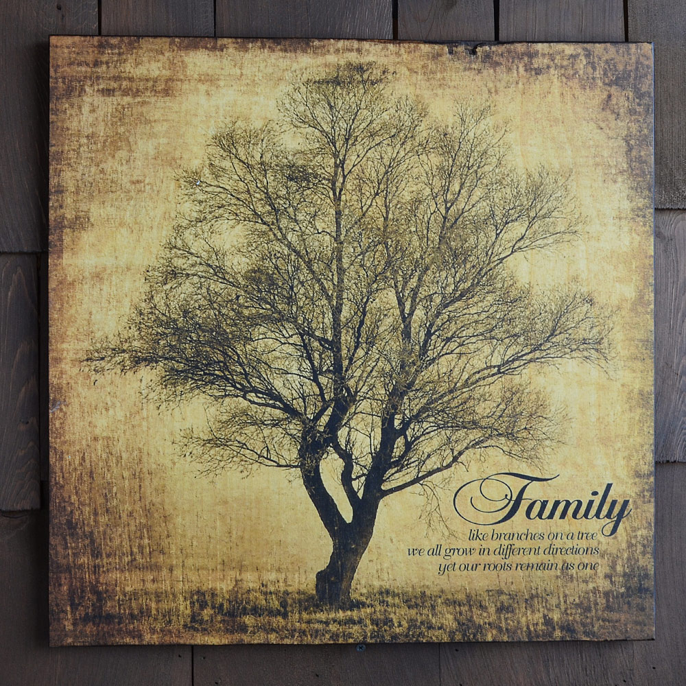 Rustic Family Tree